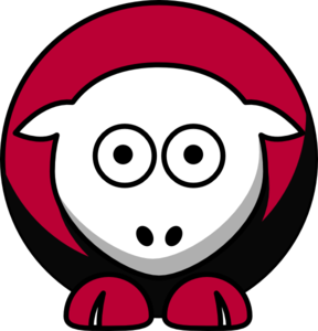 Sheep - Oklahoma Sooners - Team Colors - College Football Clip Art