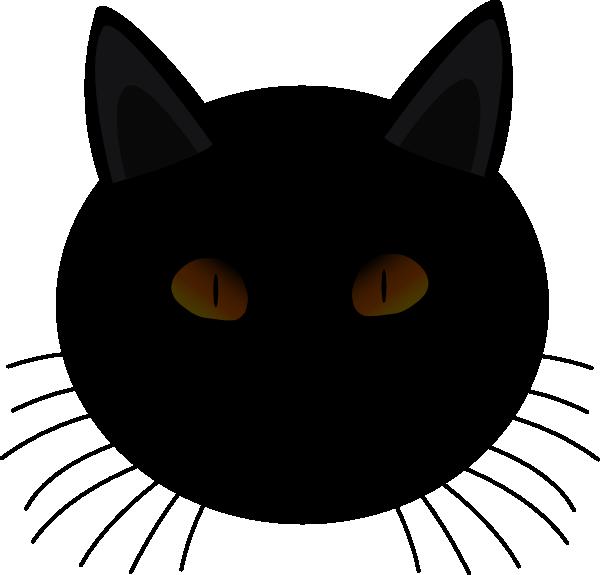 Black Cat Face Clip Art at Clker.com - vector clip art ...