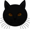 Black Cat Face Clip Art
