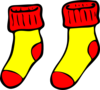 Red And Yellow Socks Clip Art