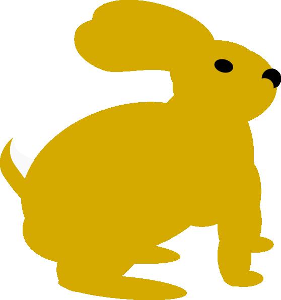 Yellow Rabbit Clip Art at Clker.com - vector clip art ...