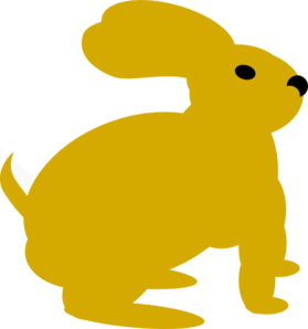 Yellow Rabbit Clip Art