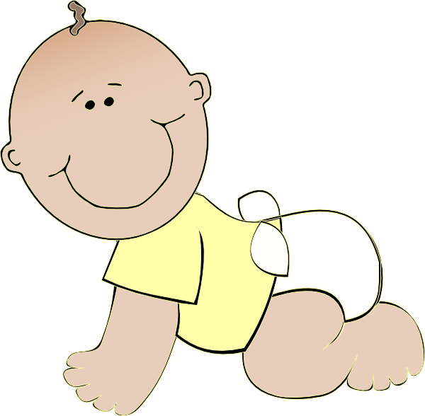Neutral Baby Crawling Clip Art at Clker.com - vector clip ...