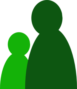 One And A Half Green People Clip Art
