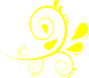 Yellow Flourish Clip Art