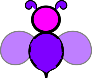 Purple And Pink Bee Clip Art