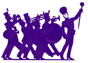 Marching Band Purple On White Clip Art