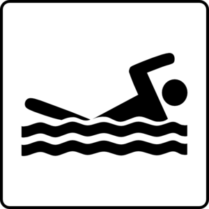 Hotel Icon Has Pool Clip Art