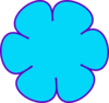 Blue Flower Purple Clip Art