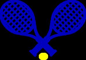 tennis blue gold clip art at clker com vector clip art online rh clker com racquetball clipart free