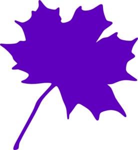Purple Leaf Clip Art