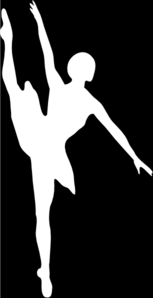 Black And White Ballerina Clip Art