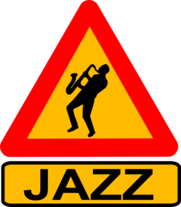 Jazz Player Road Sign Clip Art