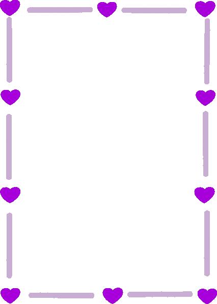 silver purple heart border clip art at clkercom vector