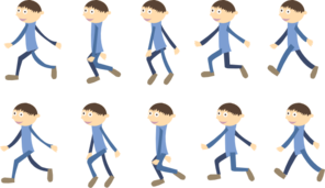Walking Cycle  Boy Clip Art