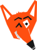 Orange Fox Clip Art