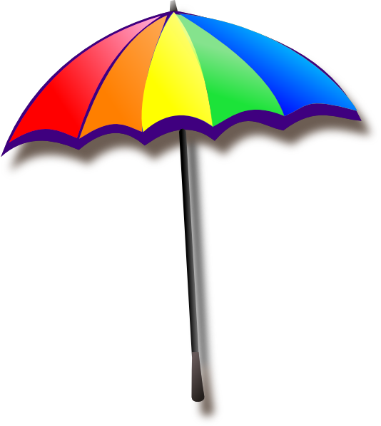 rainbow umbrella clip art - photo #2