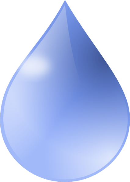 Water Droplet Art. Water Drop 2 clip art