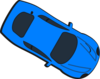 Blue Car - Top View - 330 Clip Art
