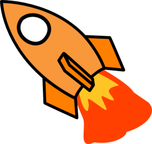 Orange Rocket Clip Art at Clker.com - vector clip art online, royalty ...