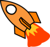 Orange Rocket Clip Art