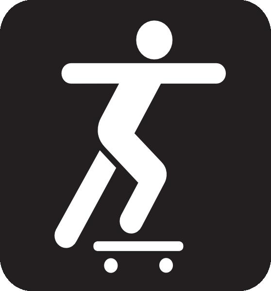 Skateboarding Stickman Clipart Clip Art at Clker.com - vector clip art ...