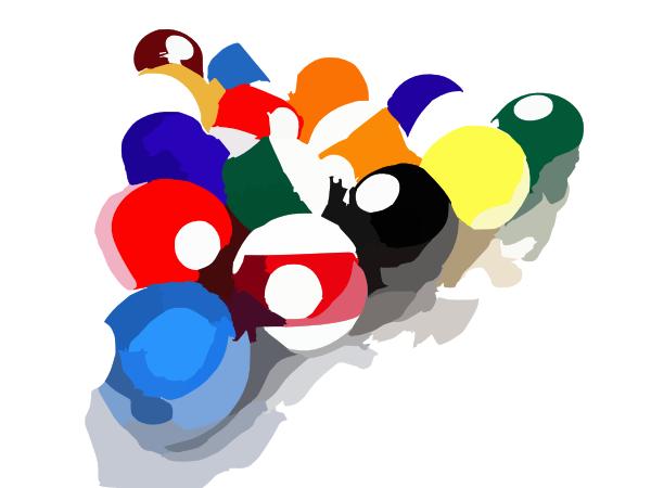 Billiard Balls Set Clip Art At Clker Com Vector Clip Art