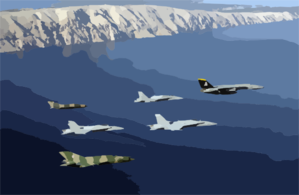 Navy Aircraft Participate In Joint Wings 2002 Clip Art