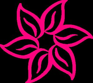 Pink Flower Clip Art At Clkercom Vector Online