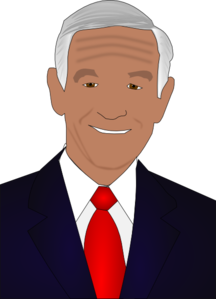 Ron Paul 2012 Presidential Candidate  Clip Art