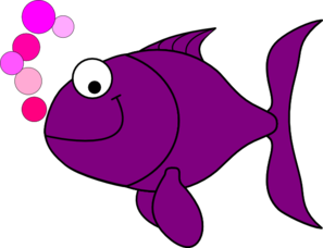Purple Smiling Goldfish Clip Art