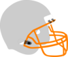 Football Helmet Gray Clip Art