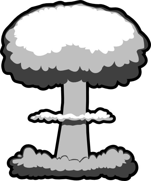 atomic bomb black and white clipart rh worldartsme com Atomic Bomb Art WW2 Atomic Bomb Cartoon