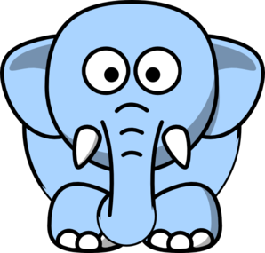Light Blue Elephant Clip Art at Clker.com - vector clip ...
