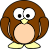 Brown Penguin Clip Art