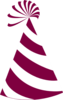 Burgundy And White Party Hat Clip Art