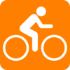 Orange Bicycle Clip Art