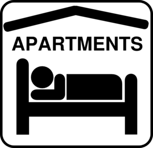 Hotel Sleeping Accomodation Clip Art - Black/whiteaa Clip Art