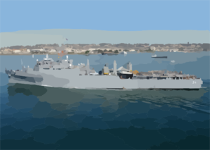Uss Anchorage (lsd 36) Departs San Diego Bay Clip Art