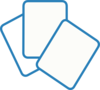 Card Deck Blue Clip Art