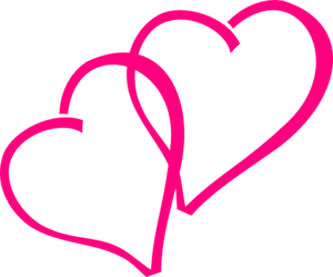 Hot Pink Hearts Clip Art