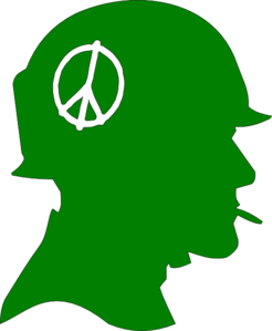 Soldier.peace.green Clip Art