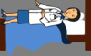 Doctor In Bed Clip Art