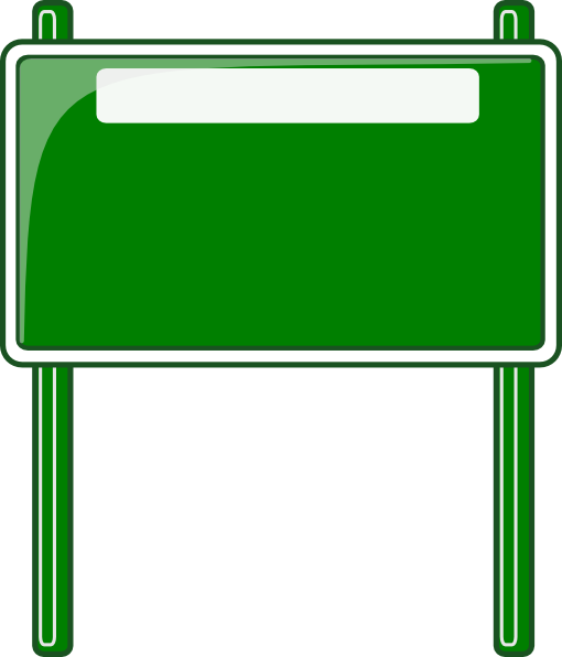 High Way Sign Clip Art at Clker.com - vector clip art ... Green Road Sign Png