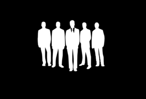 Employees 100% Opacity Black Clip Art