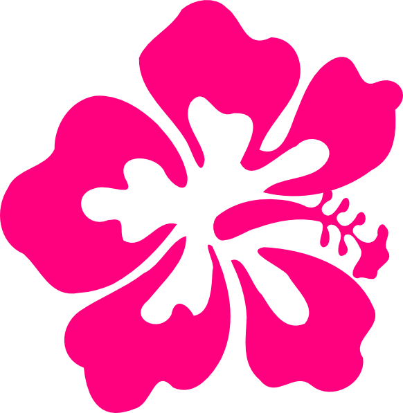 One Hibiscus Clip Art at Clker.com - vector clip art ...