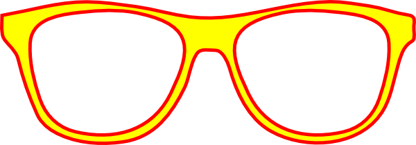 Eyeglass Frame Vector : Yellow Glasses Frame Front Clip Art at Clker.com - vector ...