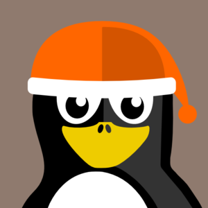 Penguin Wearing Winter Hat Clip Art