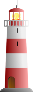 Red & White Lighthouse Clip Art