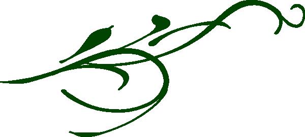 green leaf swirl clip art at clkercom vector clip art